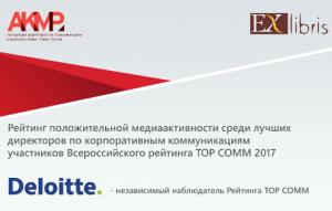 АКМР и Ex Libris представили Рейтинг TOP COMM-медиаактивность