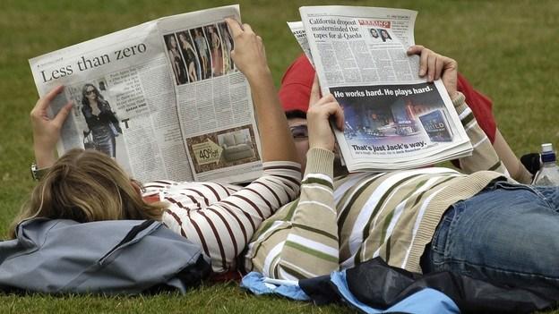 Популярность печатных изданий снижается