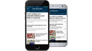 Цифровых подписчиков The Times стало больше, чем бумажных